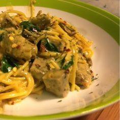 Kris' Kitchen: The Culinary Journey of Koko B.: Cajun beef and spinach spaghetti