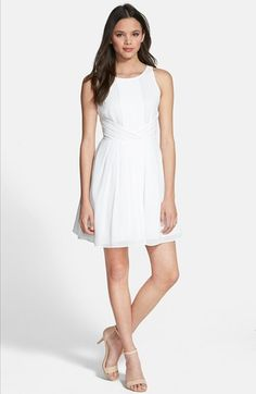 Free shipping and returns on Soprano Pleated Skater Dress at Nordstrom.com. Sweet pleats cross at the waist of an angelic skater dress for a flattering fit, while a flowing skirt adds flirty movement.