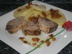 Lomos de atún con Aliño de mostaza azafranado Ingredientes (para 3 comensales) 600 Gramos de lomo de atún fresco Sal...