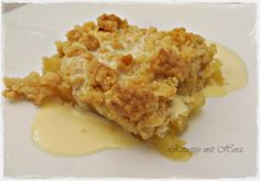 Thermomix - Rezepte mit Herz : Apple Crumble mit Vanillesauce (Sweet Recipes Apple)