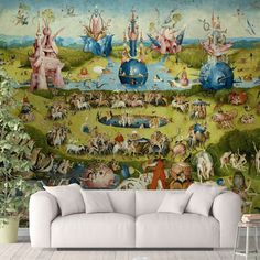 Famous Painting Wallpaper - Canvas Wall Decal / 1 roll: 24W x 132H