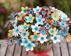 Decorazioni di fiori di vacanza arredamento di CeramicsByOrly