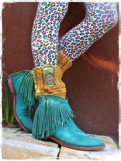 Yellow Mustard BOOT Cuffs knitted Leg WARMERS PEEKABOO by GPyoga, $46.00