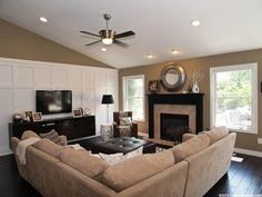 Living Room Decorating Ideas on a Budget  - Family Room - Neutral Colors, Board and Baton. Simple yet decorated...love!