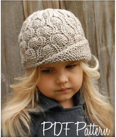 Knitting PATTERNThe Melody Cloche' Toddler Child by Thevelvetacorn, $5.50