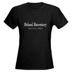 School Secretary Women's Dark T-Shirt > School Sec. Jack of All Trades > Teacher and School Secretary Gifts