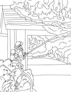 firefighter coloring pages free large images