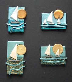 polymer clay magnets ~ this idea can be used as pendant idea