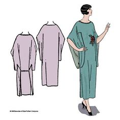 Decades of Style 1926 One Piece Negligee Sewing by Selvedge Vintage Outfits, Vintage Fashion, Vintage Clothing, Vintage Style, Vintage Inspired, Vintage Dress, Diy Vetement, Silk Organza, Vintage Sewing Patterns