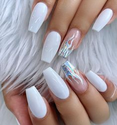 When it comes to wedding, every girl wants that she should look amazing in each aspect. You want your hair, dress, heels to be perfect, then why not nails Picture Credit Matte Pink Nails, Purple Acrylic Nails, Blush Nails, Beige Nails, Acrylic Nails Coffin Short, Square Acrylic Nails, Best Acrylic Nails, Purple Nails, Glittery Nails