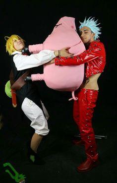 Meliodas  and ban seven deadly sins ! Cosplay nanatsu no taizai #hawk