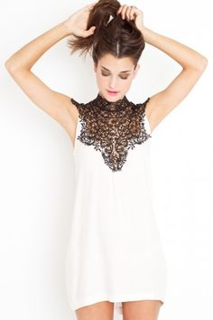 Tied Crochet Dress - Ivory
