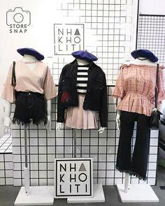Grunge Fashion, Cute Fashion, Girl Fashion, Fashion Outfits, Fashion Design, Korean Street Fashion, Korea Fashion, Asian Fashion, Vestidos Polo