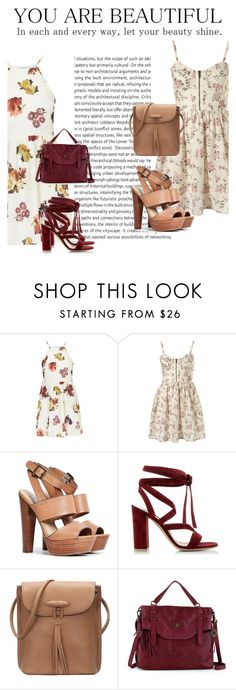 """""""Bez naslova #45"""" by armina-saric ❤ liked on Polyvore featuring Topshop, Steve Madden, Gianvito Rossi, The Sak, women's clothing, women, female, woman, misses and juniors"""