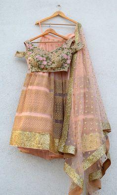 4d598d266617c9 Anisha Shetty Collection. Gold LehengaLehenga BlouseIndian ...