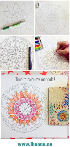 Learn how to draw a geometric mandala at @ihanna #mandala