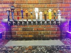 www.tappedbeer.com our custom draft black iron wall mounted draft tower #tappedbeer Tapped Beer