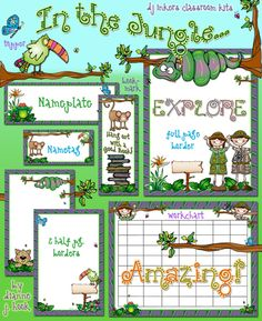 Give your classroom a sense of adventure with our exciting NEW 'In the Jungle' classroom kit! Make your kids WILD about learning with this fully coordinated printable kit!