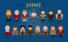 The Hobbit Movie Characters - Digital PDF Cross Stitch Pattern