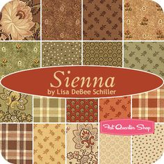 Sienna Fat Quarter Bundle Lisa DeBee Schiller for Windham Fabrics - Fat Quarter Shop