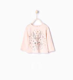 Camiseta algodón orgánico animales - Organic cotton - Bebé niña | 3 meses - 3 años - NIÑOS | ZARA México