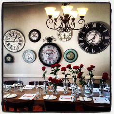 Burgundy, Hermanus Clock Wall, Cape Town, Clocks, South Africa, Table Settings, Burgundy, Restaurant, Home Decor, Picture Clock