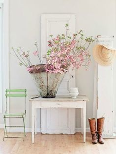 Hall de entrada decorado no estilo rústico ~ Decoração e Ideias - casa e jardim