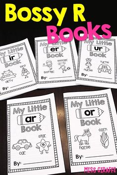 Bossy R phonics books that are so cute and fun to practice words with R controlled vowels. There is a book for ar, or, er, ir, and ur that is each filled with picture words that students can use to write either words or sentences in their own book to take Phonics Books, Phonics Reading, Teaching Phonics, Phonics Activities, Kindergarten Reading, Student Teaching, Guided Reading, Book Activities, Phonics Dance