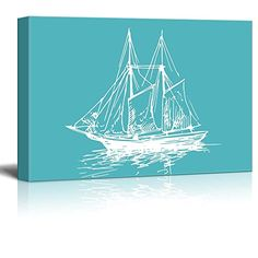 wall26 - Canvas Wll Art - Sailing Ship/Boat on Teal Ocean... https://www.amazon.com/dp/B01KTN5I1S/ref=cm_sw_r_pi_dp_x_jLe.xbKRBSKVS