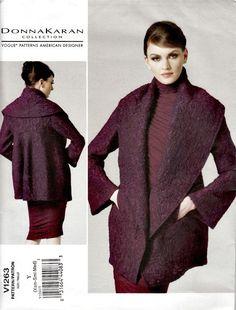2001 High Fashion Shawl-Collar Jacket  VOGUE by ShellMakeYouFlip