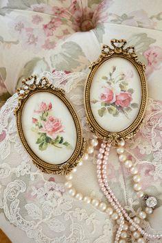 Gorgeous Pair of Antique Ormolu Frames