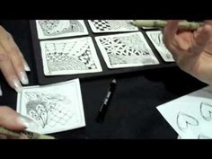 Zentangle® demonstration by Penny Raile CZT from CHA 2011