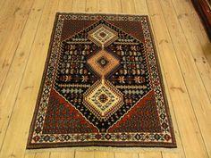 Yalame Wunderschöner Perser Teppich  Handgeknüpfte alfombra 137 x 103 cm Rugs