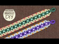 Macrame bracelets and Friendship bracelets / Tutorials Macrame Colar, Macrame Bracelet Diy, Crochet Bracelet, Macrame Jewelry, Macrame Bracelets, Loom Bracelets, Chevron Friendship Bracelets, Friendship Bracelets Tutorial, Bracelet Tutorial