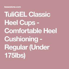 TuliGEL Classic Heel Cups - Comfortable Heel Cushioning - Regular (Under 175lbs)