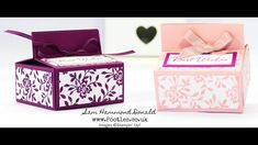 No Glue Fold Flat Box Tutorial using Stampin' Up! Fresh Florals
