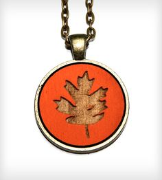 Autumn Leaf Pendant Necklace | Jewelry Necklaces | Once Again Sam | Scoutmob Shoppe | Product Detail