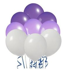 Amazon.com: Perfect Color Inflatables Violet Purple White Pack of 20: Everything Else
