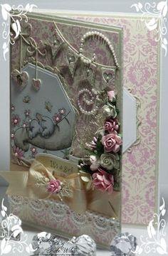 handmade card, It's a girl, Wild Rose Studio