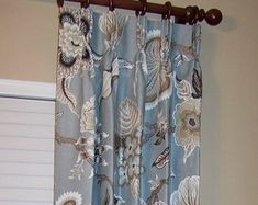 Custom Drapes, Custom Drapery, Drapery, Schumacher Fabric, Curtains, Fabric Samples, Drapestyle, Printed Shower Curtain, Home Decor