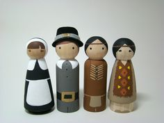 Giving Thanks Wood Peg People/Dolls. $60.00, via Etsy.