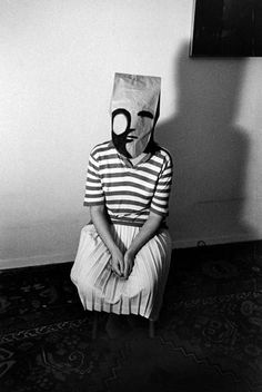 Inge Morath (from the Mask Series with Saul Steinberg), 1961: