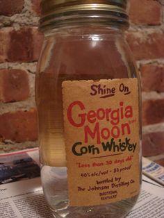 looks like it was really made in the bathtub...Shine On Georgia Moon Corn Whiskey | American Hooch