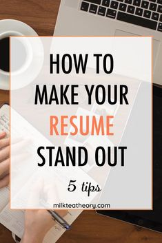 This post is about 5 ways you can make your resume stand out. Includes 5 resume tips and advice on how to polish your resume to make you a strong job applicant. Also has links to business school resume examples and a resume template. #resume #resumetips #jobhunt #career #job
