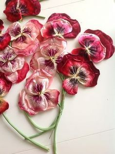 I ❤ ribbonwork . . .  Vintage Millinery Flowers