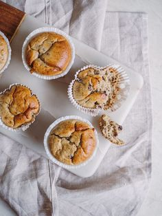 Baking Buns, Bread Baking, Healthy Cake, Healthy Snacks, Banan, Cakes And More, Cake Cookies, Eat Cake, Peanut Butter