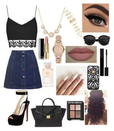 """""""Untitled #101"""" by zannaferdous ❤ liked on Polyvore featuring Topshop, Forever 21, Hervé Léger, Gucci, Chanel, Prada, Burberry, Tory Burch and Sonia Kashuk"""