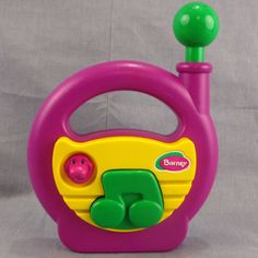 Barney Radio Preschool Toy Purple Dinosaur 1990's Musical #Hasbro