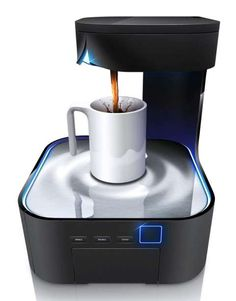 HJC Design Presents a Modern Coffee Maker Perfect for the World of 'TRON' #Coffee #Brewing