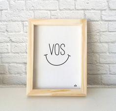 Cuadro con frase Vos feliz — Encontrá el tuyo en www.kermesseaccesorios.com.ar